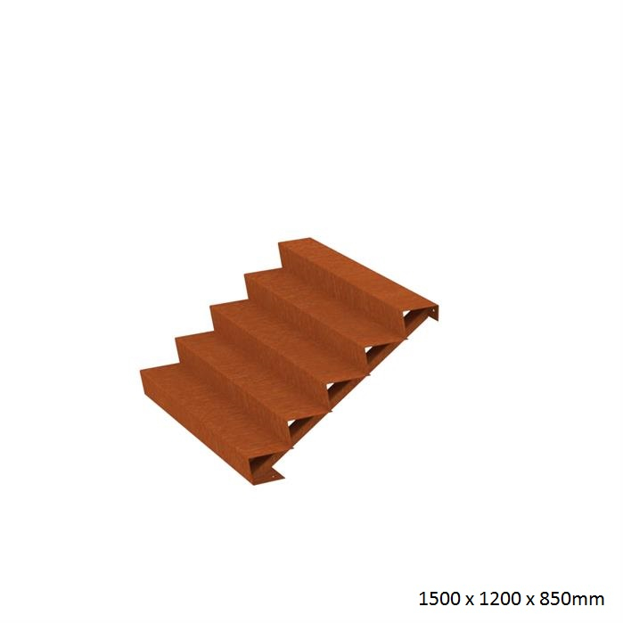 Buy Corten Steel Steps Landscape Features The Pot Company