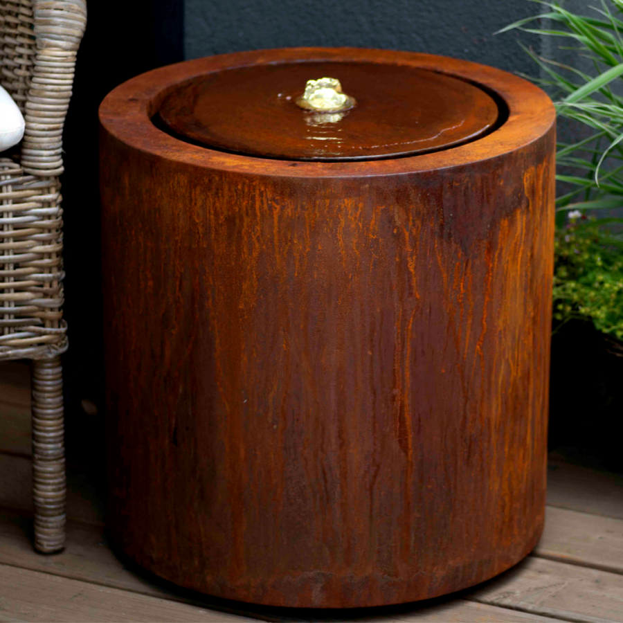 Buy Corten Steel Round Water Tablel Water Features The Pot Company