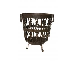 Knotted Log Basket