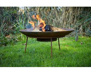Corten Steel Curved Fire Bowl