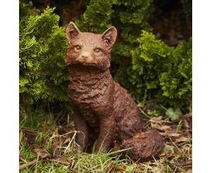 Sitting Fox Statue