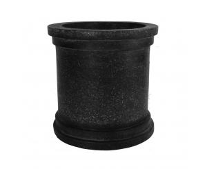 Black Terrazo Polystone Cylinder