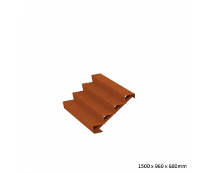 Corten Steel Steps - Four Steps