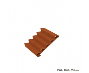 Corten Steel Steps - Five Steps