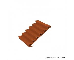 Corten Steel Steps - Six Steps