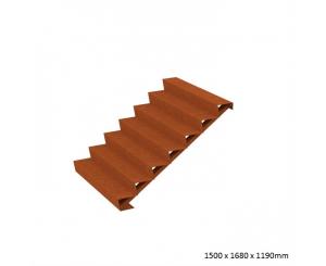 Corten Steel Steps - Seven Steps