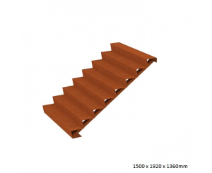 Corten Steel Steps - Eight Steps