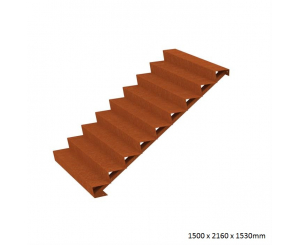 Corten Steel Steps - Nine Steps