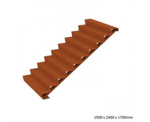 Corten Steel Steps - Ten Steps