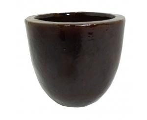 Brown Glazed Egg Pot