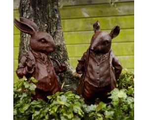 Pair of Woodland Creature Statues