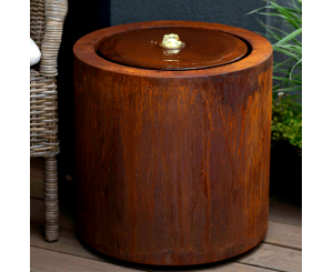 Riple Corten Steel Round Water Table