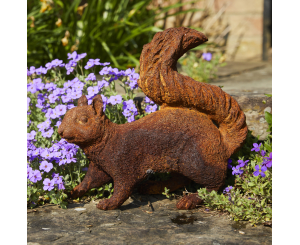 Foraging Squirrel Statue