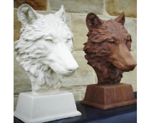 Wolf Head Statue, Rust or White