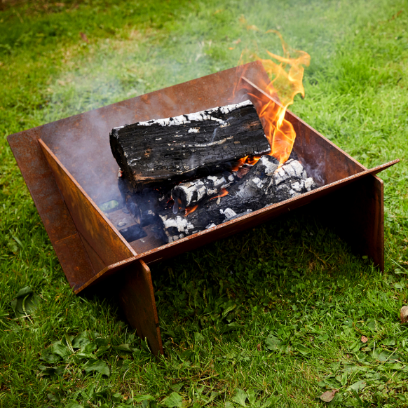 Minima Corten Steel Fire Pit Image