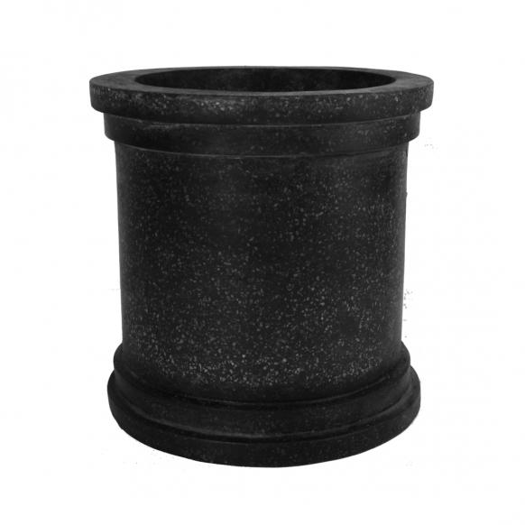 Black Terrazo Polystone Cylinder Image