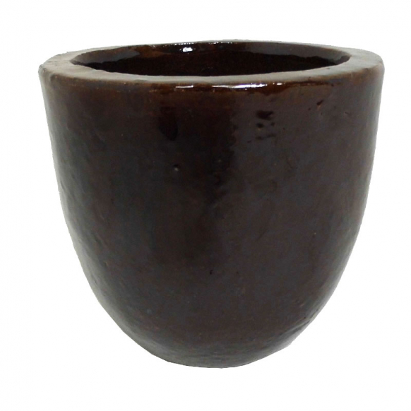 Brown Glazed Egg Pot Image
