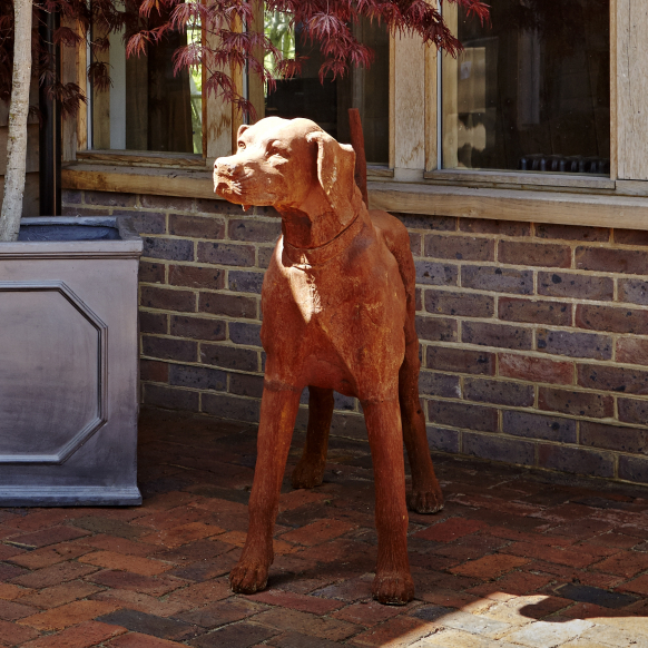 Standing Rhodesian Ridgeback Statue Image