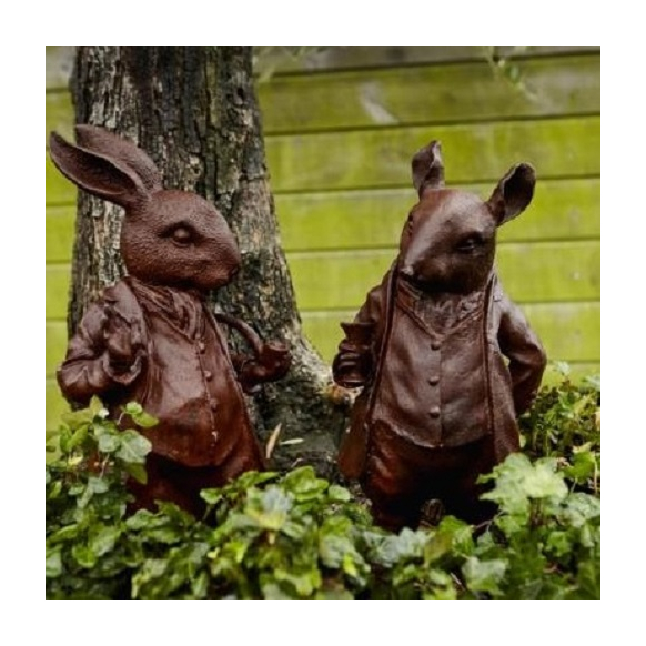 Pair of Woodland Creature Statues Image