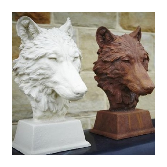 Wolf Head Statue, Rust or White Image