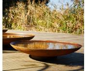 Corten Steel Curved Water Bowl Image