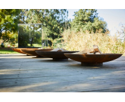Corten Steel Curved Fire Bowl Image