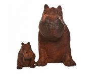 Small Happy Hippo Statue Image